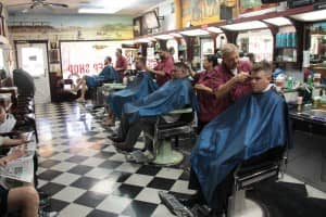 All the barbers working | Scottsdale Barbershop