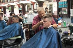 Mike and Rosa working | Scottsdale Barbershop