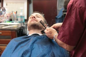 Rafi giving a beard trim | Scottsdale Barbershop