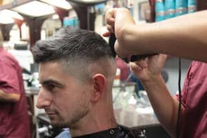 Arsen working on a skin fade | Scottsdale Barbershop