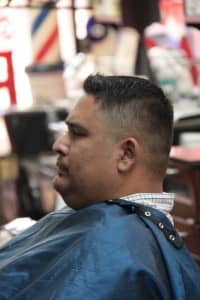 Man getting neck shaved | Scottsdale Barbershop